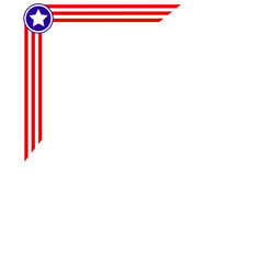 Usa flag frame corner for your design vector