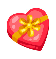 valentines day gift box with bow vector image