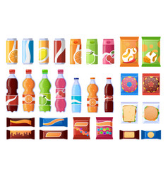 Vending machine snack beverages sweets and vector