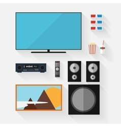 video equipment icon set vector image