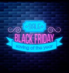 vintage black friday sale emblem vector image