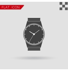 Watch logo concept Flat Style vector image