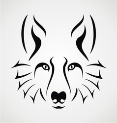 wolf face tattoo vector image