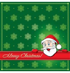 Christmas Santa Greeting card vector image