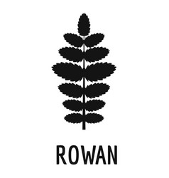 rowan leaf icon simple black style vector image