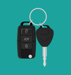car key and of the alarm system vector image vector image
