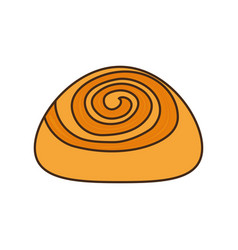 Colorful cinnamon roll over white background vector