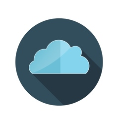 Flat Design Concept Cloud With Long Shadow vector image