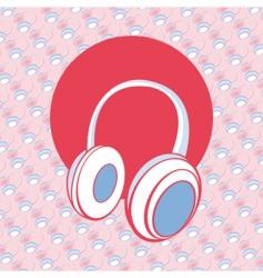 head phones vector image