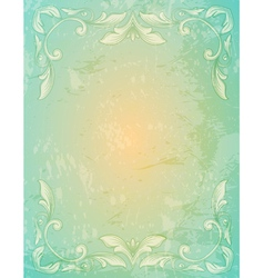 Ornamental lace patternand and grungy background vector image vector image