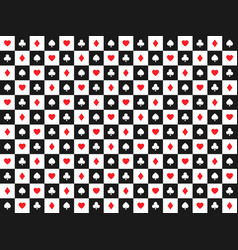 seamless abstract poker background with playing vector image