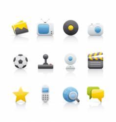 icon set entertainment vector image