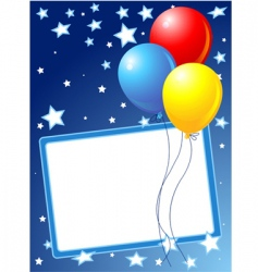 party balloons background vector image vector image