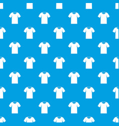 tshirt pattern seamless blue vector image vector image