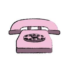 Classic telephone communication call device retro vector