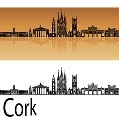 Cork skyline in orange vector image