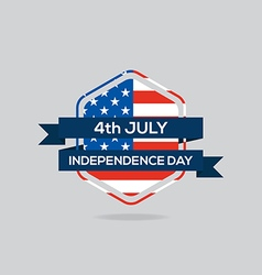 Independence day badge flat design vector image