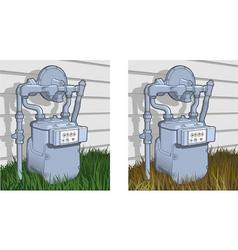 natural gas meter vector image