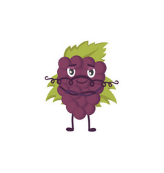 with funny grape character vector image