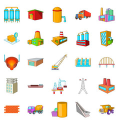 Working people icons set cartoon style vector