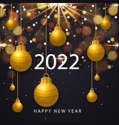 2022 happy new year vector