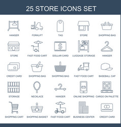 25 store icons vector
