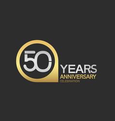 50 years anniversary celebration simple design vector