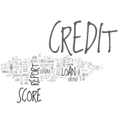 A few facts about your credit score text word vector