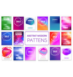 a set abstract backgrounds vector image