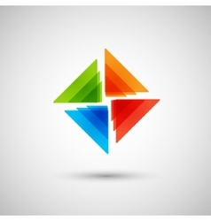 abstract colored triangles on a white background vector image