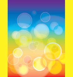 Abstract rainbow bokeh background vector