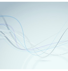Abstract transparent swoosh lines background vector image