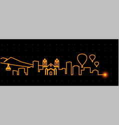 Albuquerque light streak skyline vector