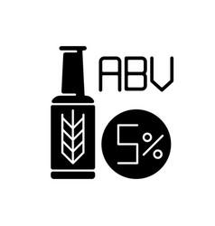 Alcohol volume black glyph icon vector