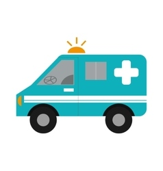 ambulance vehicle icon vector image