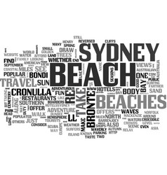 Beaches for fun in the sun text word cloud concept vector
