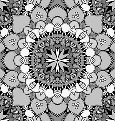 Black and White Mandala Patterned Background vector image