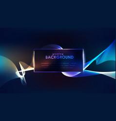 blue luminous lines over dark background vector image