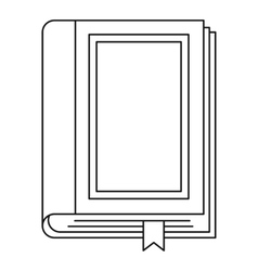 Book icon outline style vector image