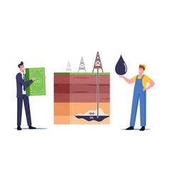 Businessman and worker characters change oil on vector