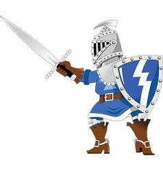 Cartoon knight vector image
