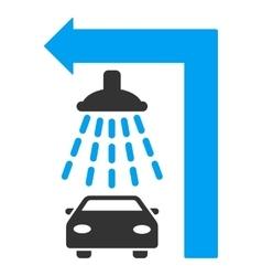 Carwash Turn Left Flat vector