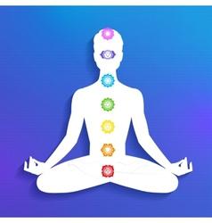 Chakras Meditation vector image