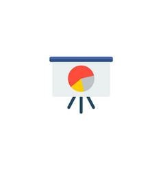 Chart presentation icon flat element vector