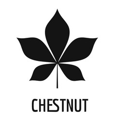 Chestnut leaf icon simple black style vector