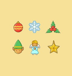 Christmas Icons 3 Flatten vector