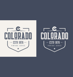 colorado state textured vintage t-shirt and vector image