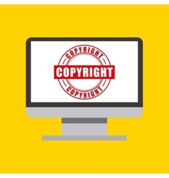 Computer icon Copyright design graphic vector