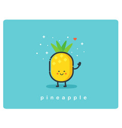 Con of pineapple fruit funny cartoon character vector