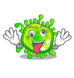 Crazy virus cells bacteria microbe isolated mascot vector
